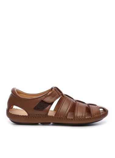 Kemal Tanca Kemal Tanca Erkek Derı Sandalet Sandalet Taba
